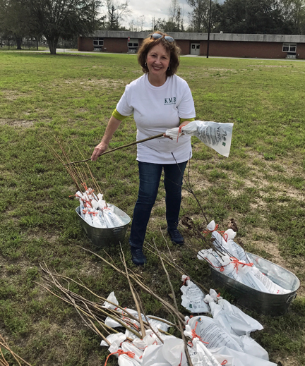 2018 Ga Arbor Day Cele. TGES-JodyMartin- KMB Seedling Giveaway 3.1.18-2