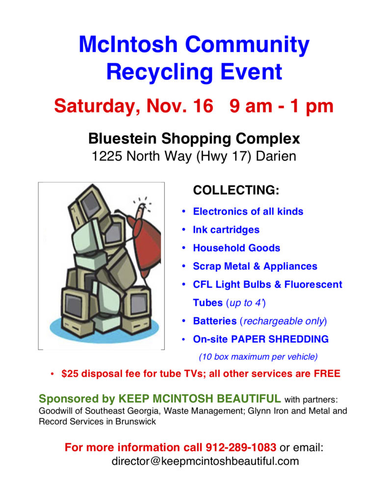 2019 McIntosh Recycling Day FLYER