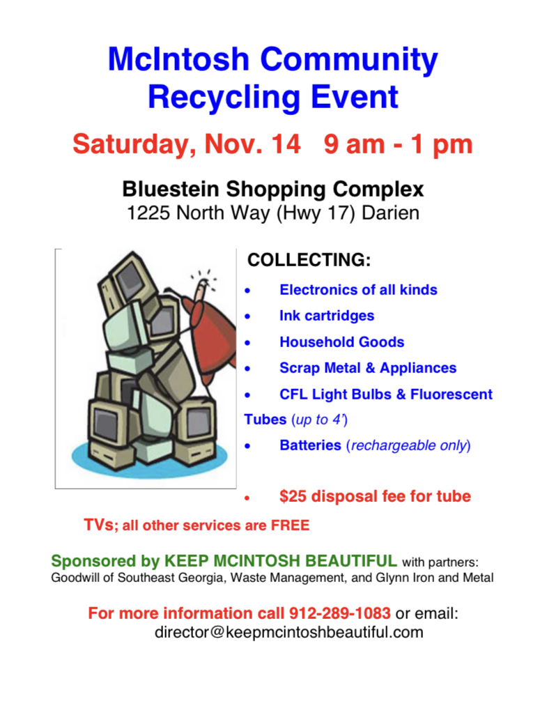 2020 McIntosh Recycling Day Flyer